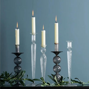Luxury Glass Candle Holder for Boho Modern Home Decor