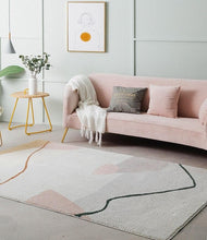 Load image into Gallery viewer, Modern Abstract Blush and Ivory Tones Area Rug for Room Decor and office