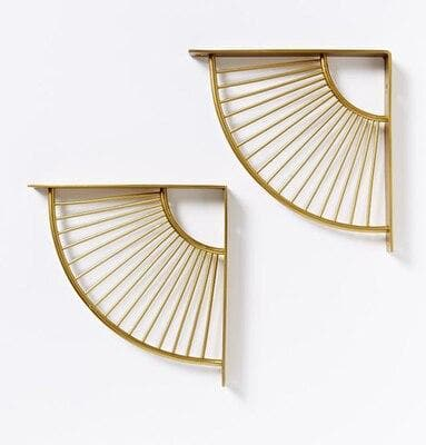Shaped Gold Metal Brackets