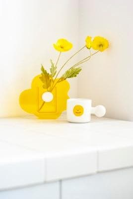 Yellow Acrylic vase