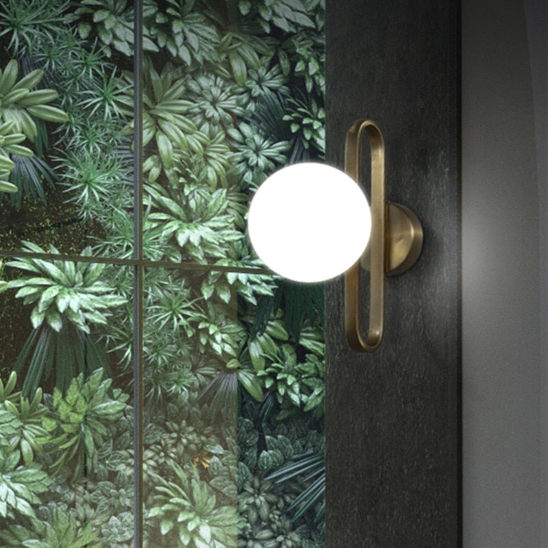 antique brass sconce sphere