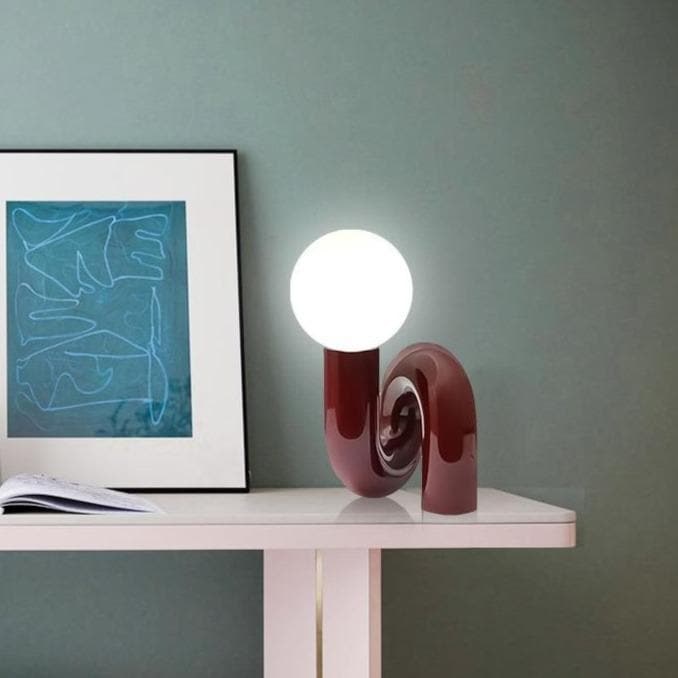 Retro Post-modern resin and glass table lamp