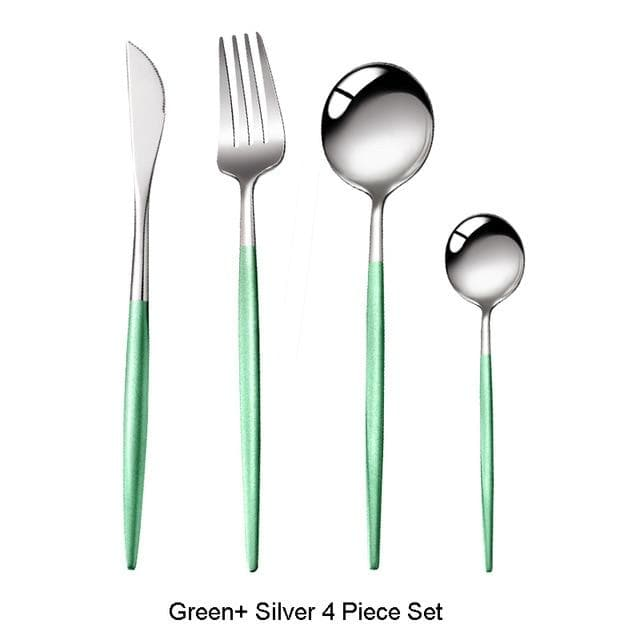 Rainbow Brights Flatware 4Pc Set