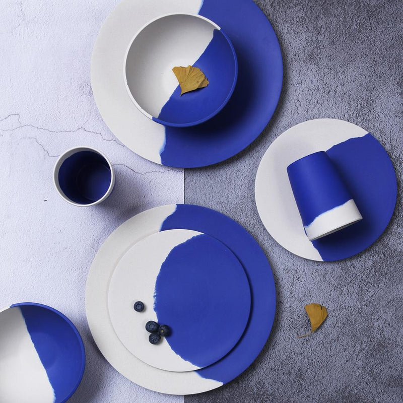 cobalt blue eco friendly dinnerware set Bamboo