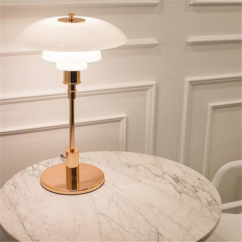 Modern Metal and Glass Table Lamp rose gold