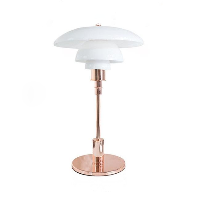 Modern Metal and Glass Table Lamp gold
