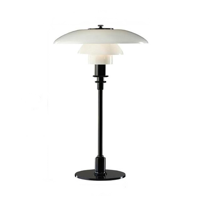 Modern Metal and Glass Table Lamp black