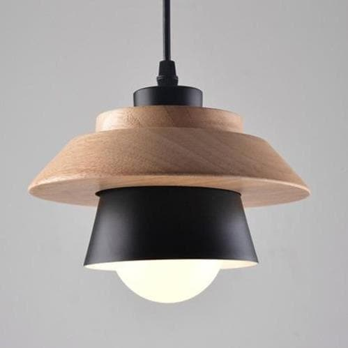 Wood and Metal Layered LED Pendant
