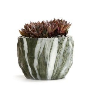 Modern Marbling Flower Pot Succulent pot Cactus Planter Pots Container Bonsai Planters with Hole 3.35Inch Perfect Gift Idea