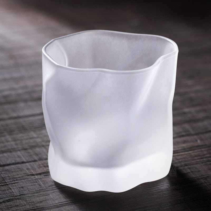 matte white frosted beautiful Whisky glass