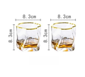 cool Whisky gold trim glasses
