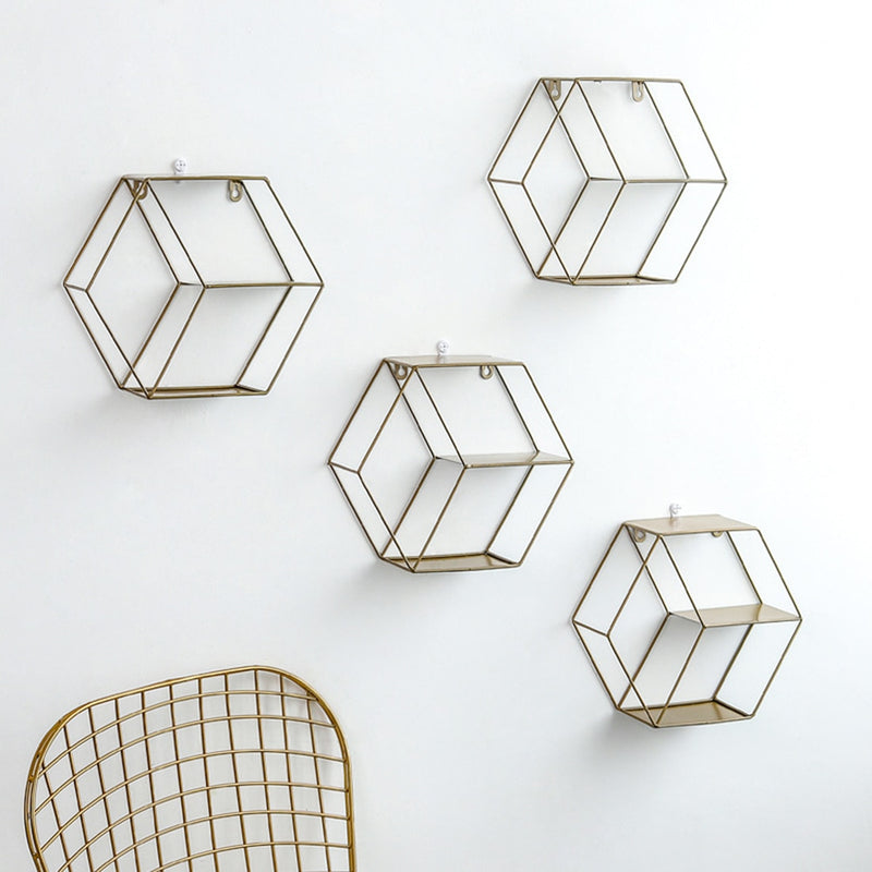 Hexagon Wall Mount Shelves