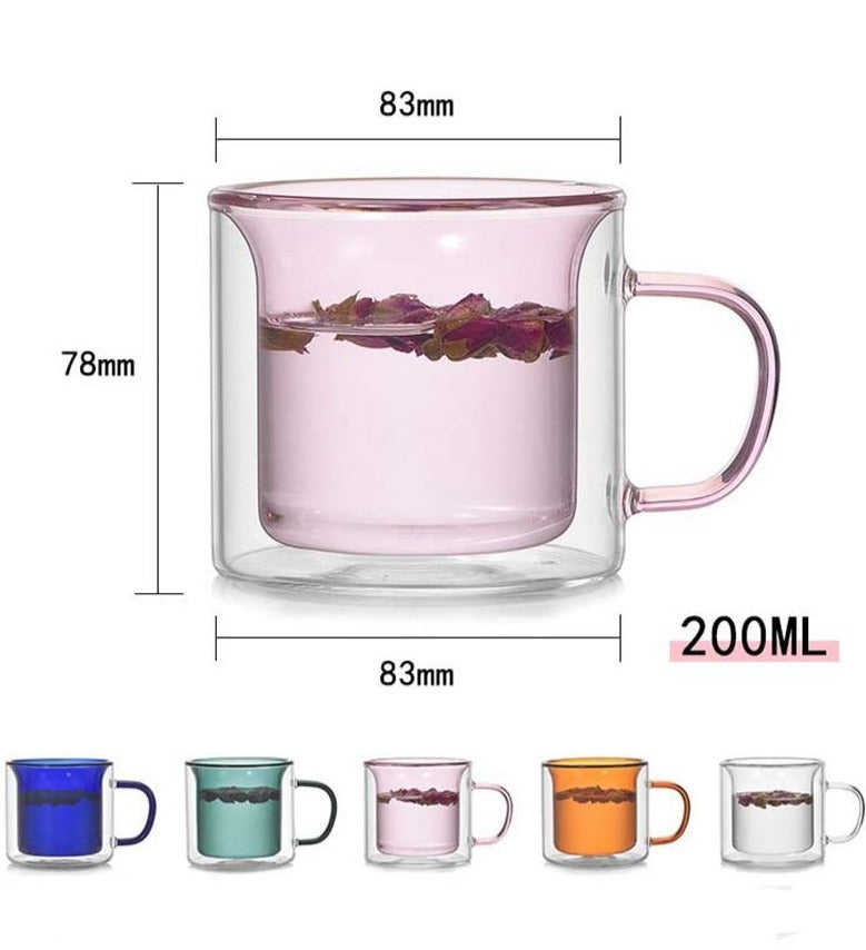 Double Wall Glass Mug clear
