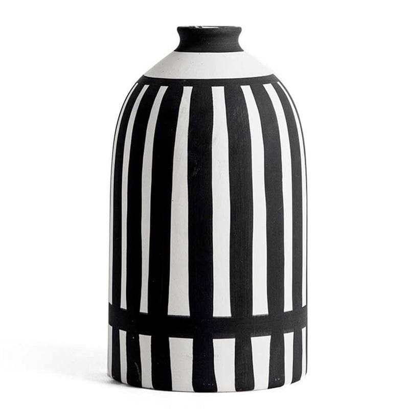 Scandi White & Black Ceramic Vase