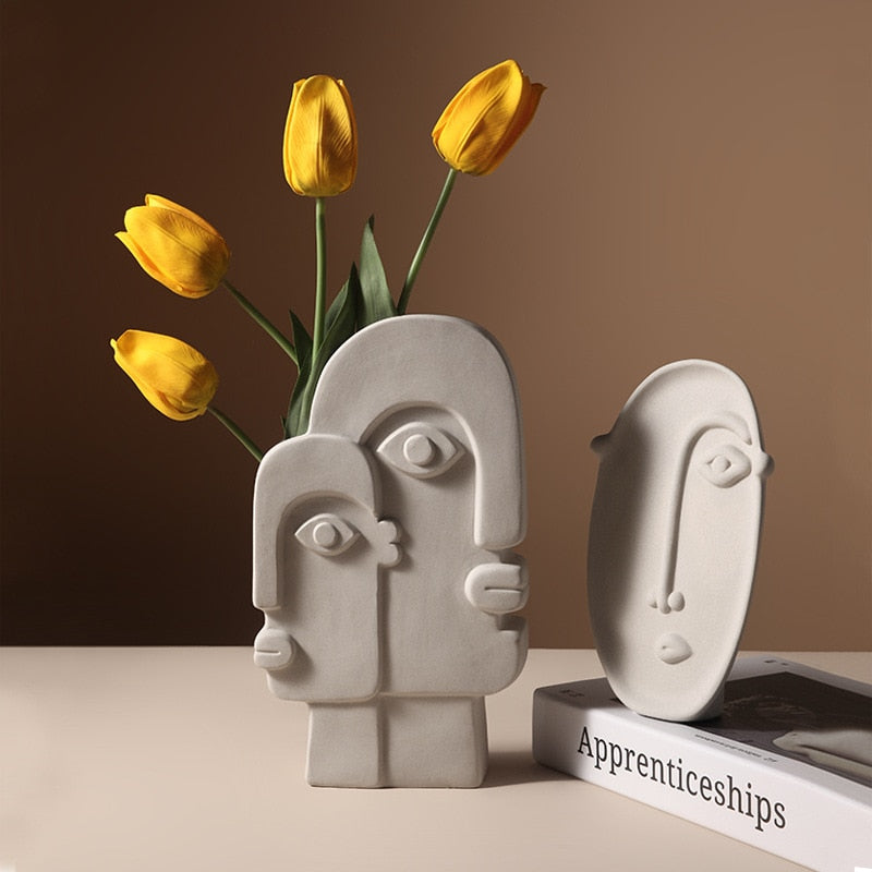 Clay Profile Ceramic Vases