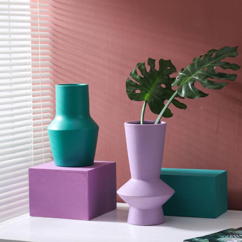 Bright Color Ceramic Flower Vase