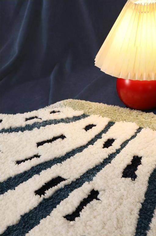 seashell polyester area rug