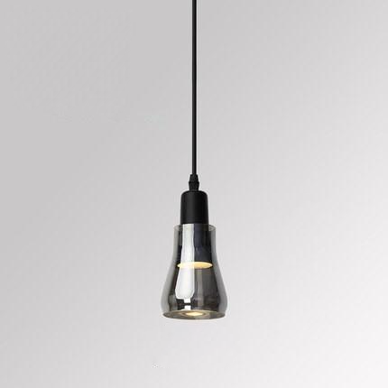 cone Smoked Grey Glass Pendant Light