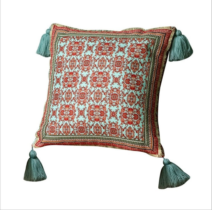 Flowers & Paisley Pillow Covers with Tassels