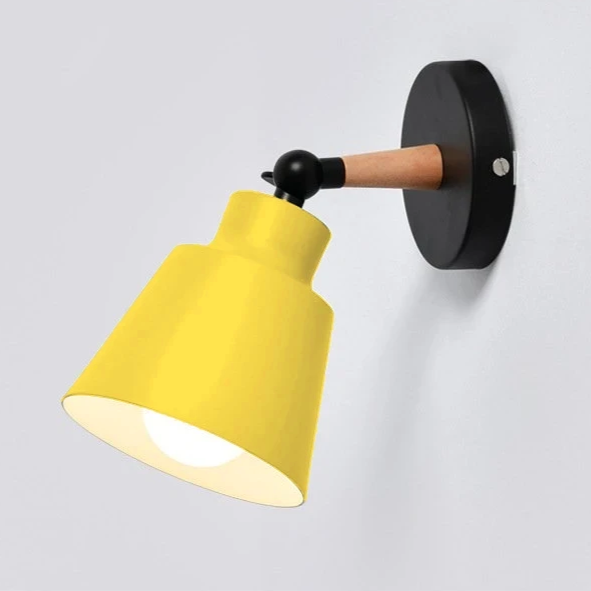 Wall Sconce black and yellow