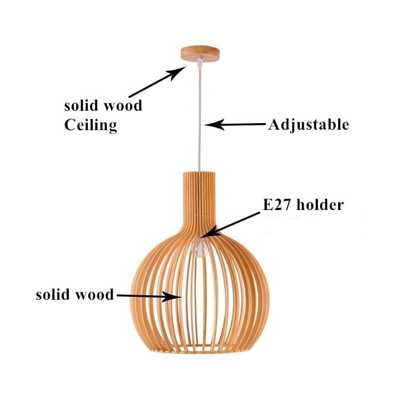 secto octo 4240 pendant light wood