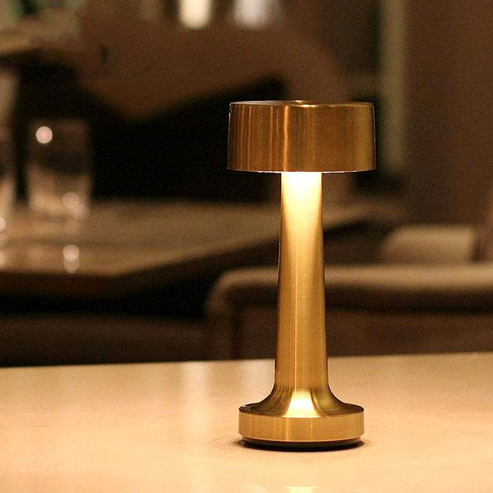 Vintage Bar LED Table Lamp with Rechargeable Batteries