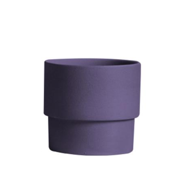 purple Porcelain Stackable Planters