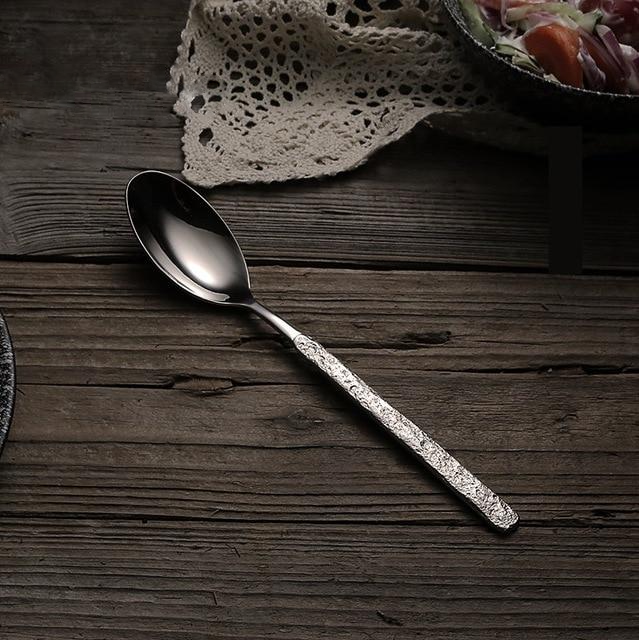 Hammered Stainless Steel Spoon