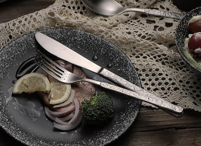 Hammered Stainless Steel cutlery