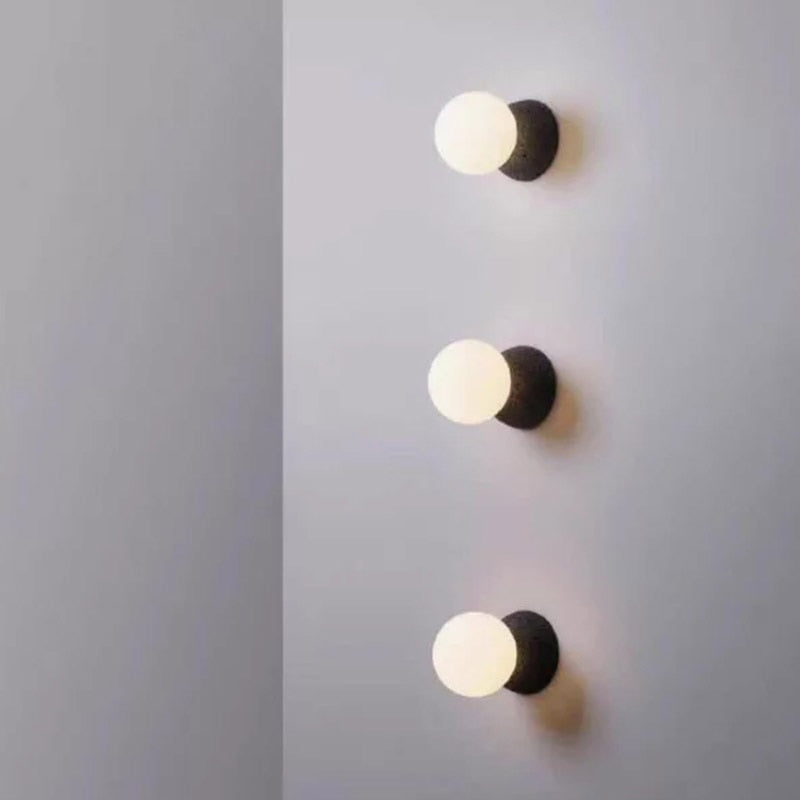 round Spot Cement Wall lamp sconces