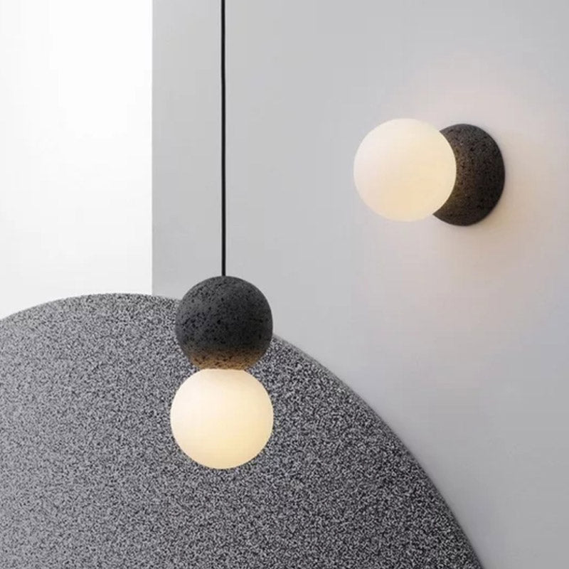 round Spot Cement Wall lamp