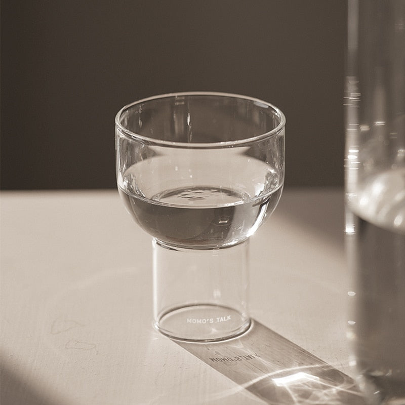 round clear glass cups