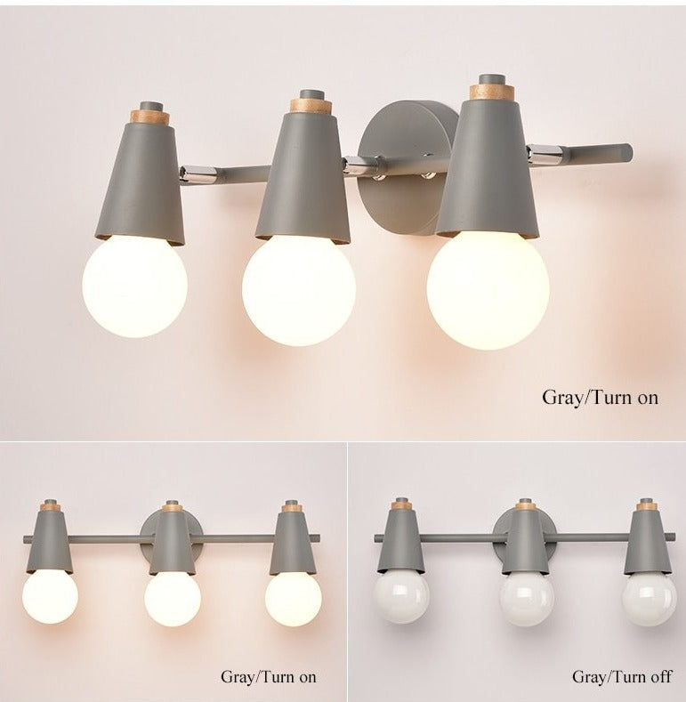 three light grey wall lamp sconce trendy
