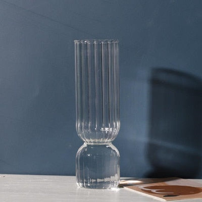 Upside Down Colored Glass Vase