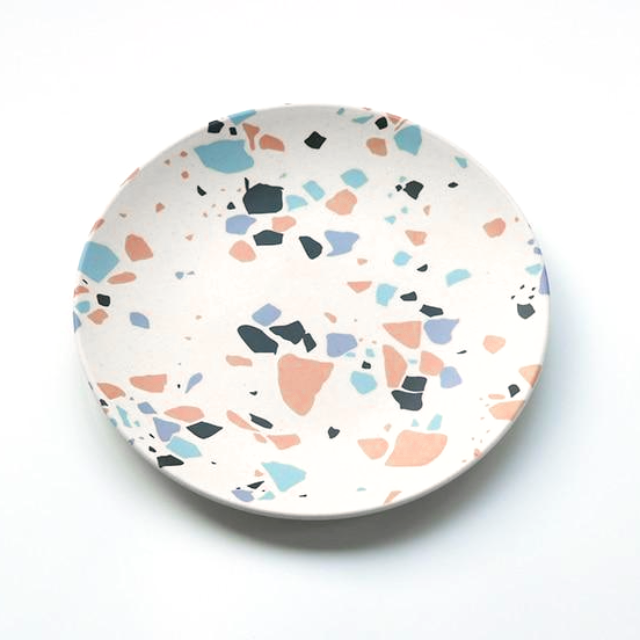 Modern Abstract Colorful Bamboo Plates