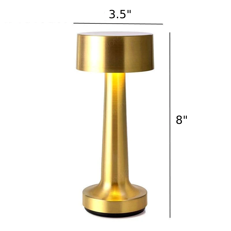 Neoz gold cordless rechargeable table lamp restaurant