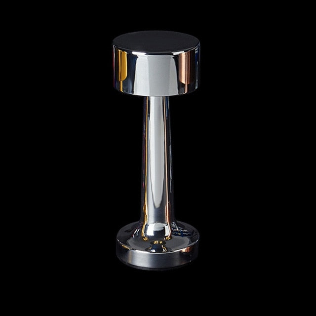 Neoz silver cordless rechargeable table lamp restaurant