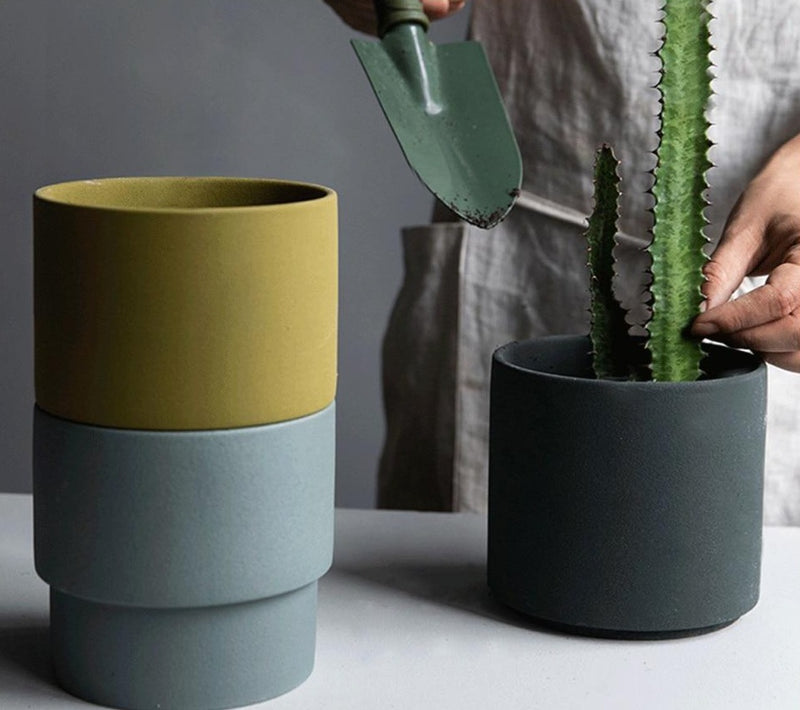 Porcelain Stackable Planters