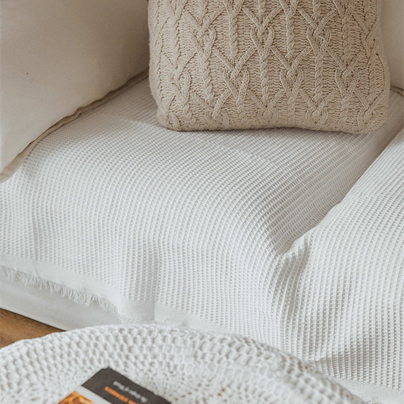 Embroidered Cotton Summer Blanket
