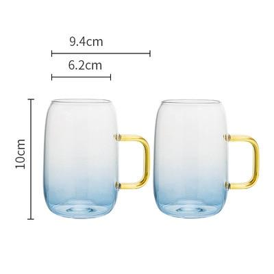 Glacial Blue Glass Drinkware