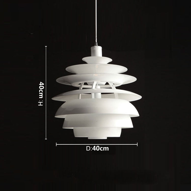 flat sphere snow ball metal white LED ceiling pendant light