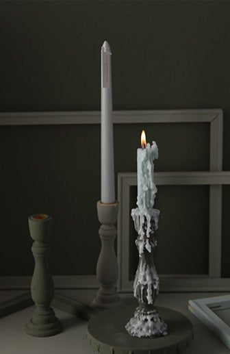 Brush Painted Vintage Candle Holder