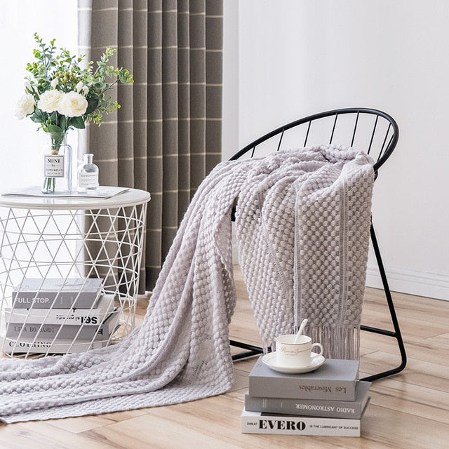 Modern Knit Throw Blanket