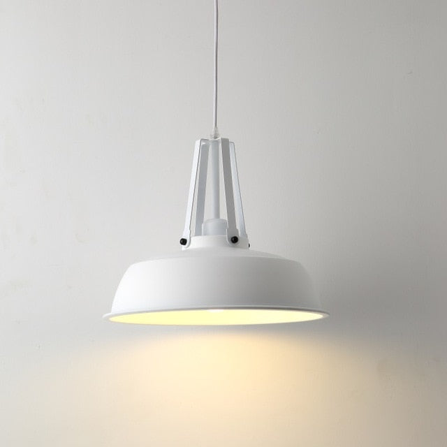 mid flat sphere matte metal ceiling pendant light