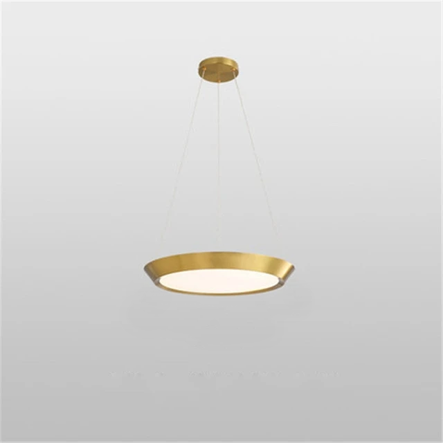 flat round gold LED hanging ceiling pendant light