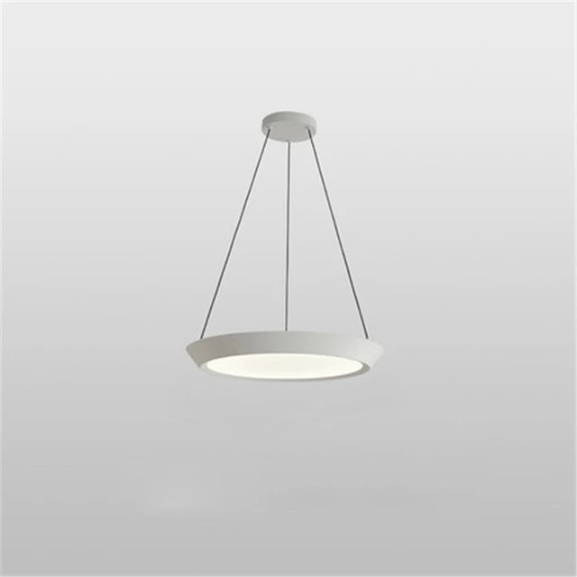 flat round white LED hanging ceiling pendant light