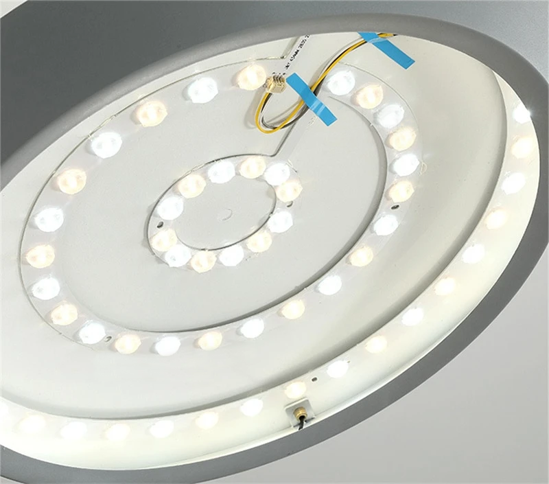flat round LED hanging ceiling pendant light
