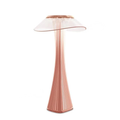mushroom acrylic rose gold dimmable LED table lamp with batteries