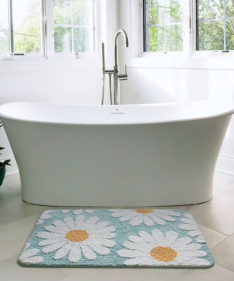 Daisy Bloom Bath Mat