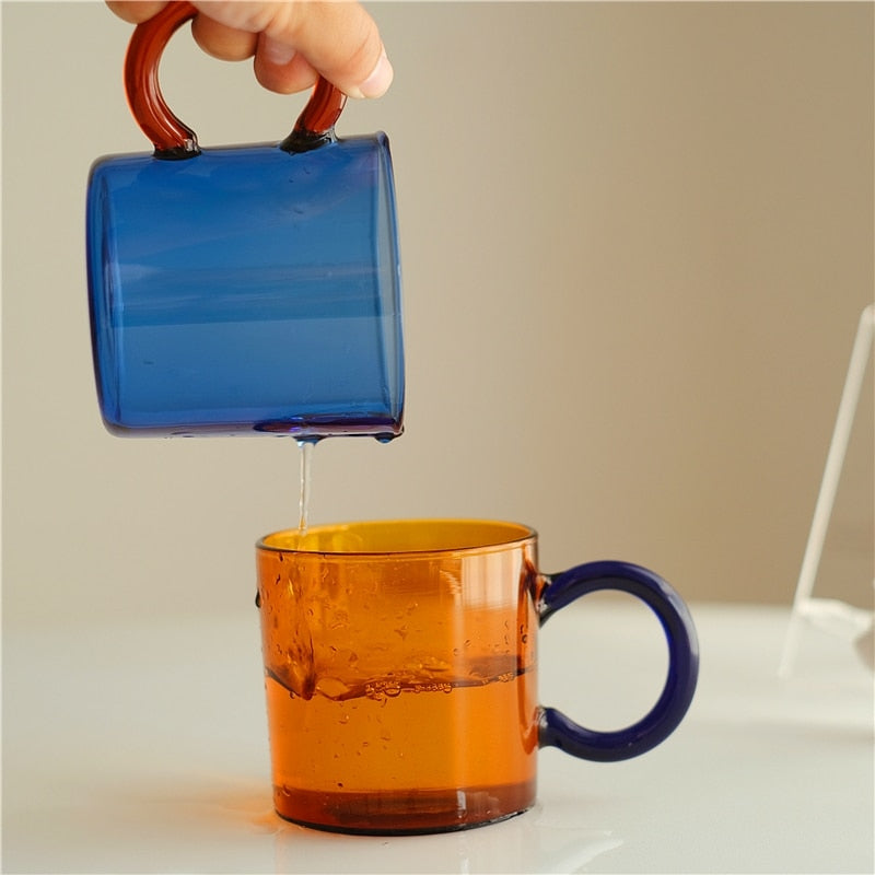 Colored Borosilicate Glass Mugs